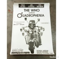 Carteles Espectáculos: CARTEL ORIGINAL DEL CONCIERTO DE THE WHO PERFORM QUADROPHENIA LIVE AT EARLS COURT - 1996. Lote 222257982