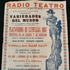 Carteles Espectáculos: CARTEL RADIO TEATRO 1961. Lote 223974721