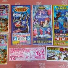Affiches Spectacles: PUBLICIDAD , INVITACIONES DE CIRCOS. 7 UNIDADES. PERFECTO ESTADO.. Lote 224575851