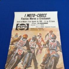 Carteles Espectáculos: CARTEL PEPSI-PIRELLI - MOTO-CROSS (1981 ORIGINAL). Lote 231474065