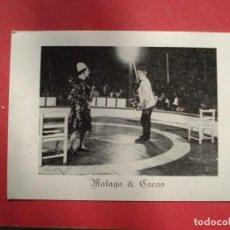 Carteles Espectáculos: PROPAGANDA DE CIRCO MALAGA Y PARTENAIRES FOTO ACTUACION. Lote 235651455
