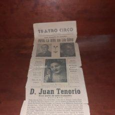 Affissi Spettacoli: CARTEL ORIGINAL TEATRO CIRCO DE CARTAGENA 1949. Lote 239569450