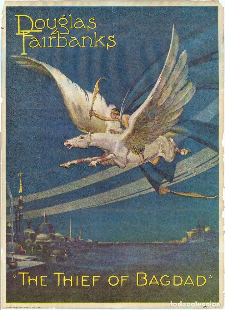 THE THIEF OF BAGDAD - EL LADRÓN DE BAGDAD - LITHO 1924 EN PLANCHA - DOUGLAS FAIRBANKS (Coleccionismo - Carteles Gran Formato - Carteles Circo, Magia y Espectáculos)