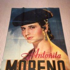 Carteles Espectáculos: ANTOÑITA MORENO - CARTEL ORIGINAL. Lote 240422070