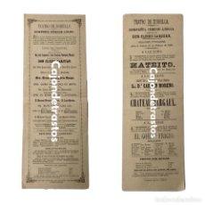 Carteles Espectáculos: CARTELES TEATRO DE ZORRILLA - VALLADOLID (1890). Lote 187409187