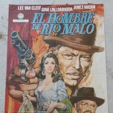 Carteles Espectáculos: CARTEL DE CINE EL HOMBRE DE RIO MALO, DE 1972. Lote 243576815