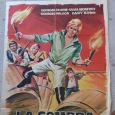 Carteles Espectáculos: CARTEL DE CINE LA SOMBRA DEL VENGADOR, DE 1964. Lote 243577515