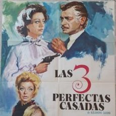 Carteles Espectáculos: CARTEL DE CINE LAS TRES PERFECTAS CASADA, DE 1972. Lote 243579310