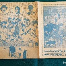 Carteles Espectáculos: CARTEL PLAZA TOROS DE VISTA ALEGRE (1968) GALAS DE ARTE, LOS CALES, DON CANUTO... - RW. Lote 245055890