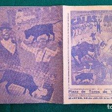 Carteles Espectáculos: CARTEL PLAZA TOROS DE VALENCIA (1961) GALAS DE ARTE, CINACOTA, LOS ASES, DON CANUTO... - RW. Lote 245057860