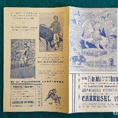 Carteles Espectáculos: CARTEL PLAZA TOROS DE VALENCIA (1950) CARRUSEL LLAPISERA, EL EMBRUJO MUSICAL... - RW. Lote 245059915