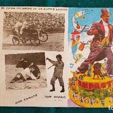 Carteles Espectáculos: CARTEL PLAZA TOROS DE VALENCIA (1972) BANDA EL EMPASTRE, DON CANUTO, LOS AUTOS LOCOS... - RW. Lote 245153310