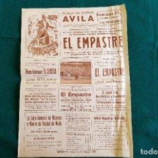 Carteles Espectáculos: CARTEL PLAZA TOROS DE AVILA (1968) BANDA DEL EMPASTRE, EL SENECA, EL GRAN TATO... - RW. Lote 245154525