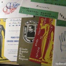 Carteles Espectáculos: LOTE 7 PROGRAMA MAGIA CEDAM CIRCULO ESPAÑOL DE ARTES MAGICAS AÑOS 60 FESTIVAL MAGICO. Lote 247109385