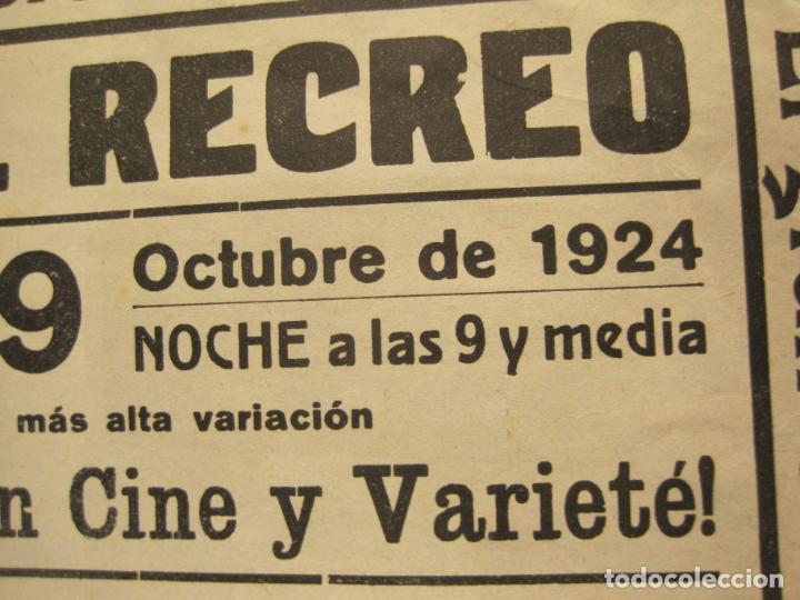 Carteles Espectáculos: CARTEL PUBLICIDAD ESPECTACULOS BOTI-AÑO 1924-TROUPE BOTI-CINE Y OTROS-VER FOTOS-(K-2072) - Foto 4 - 248293440