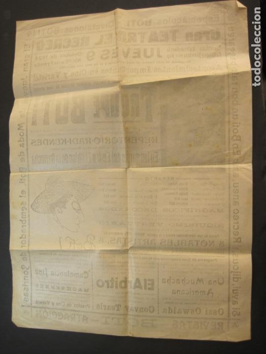 Carteles Espectáculos: CARTEL PUBLICIDAD ESPECTACULOS BOTI-AÑO 1924-TROUPE BOTI-CINE Y OTROS-VER FOTOS-(K-2072) - Foto 5 - 248293440