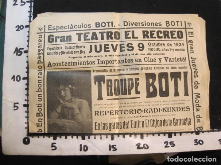 Carteles Espectáculos: CARTEL PUBLICIDAD ESPECTACULOS BOTI-AÑO 1924-TROUPE BOTI-CINE Y OTROS-VER FOTOS-(K-2072) - Foto 6 - 248293440