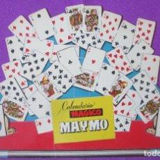 Carteles Espectáculos: CALENDARIO CARTEL DISPLAY PUBLICITARIO MAGICO MAYMO 1962 MAGIA TROQUELADO CARTON. Lote 251184205