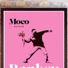 Affiches Spectacles: POSTER OFICIAL EXPOSICIÓN DE BANKSY EN MOCO AMSTERDAM.ROY LICHTENSTEIN & BANKSY-WARHOL -59,5X42 CM .. Lote 252408200