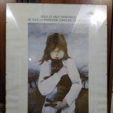 Carteles Espectáculos: CARTEL EXPOSICIÓN AGUILAR MORÉ - 1984 - MONTECARLO. Lote 259938530