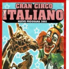 Affissi Spettacoli: CARTEL GRAN CIRCO ITALIANO. Lote 260632910