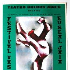 Carteles Espectáculos: CARTEL ORIGINAL / / GRUPO ANDRA MARI /ARABA / IBARROLA / 1973 / BILBAO / 38X60 CM. Lote 261349585