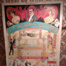 Carteles Espectáculos: CUADRO PH. DE NORAN & AND DATURA 2003 POSTER BELGA MAGIC CARTEL HOUDINI RARA PIEZA DE REPRODUCCIÓN. Lote 275593128