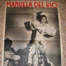 Carteles Espectáculos: CARTEL DE MANUELA DEL RIO - FLAMENCO BAILE - POSTER. Lote 276939458