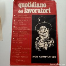 Carteles Espectáculos: CARTEL QUOTIDIANO DEI LAVORATORI, 25 X 35 CM. Lote 277749648