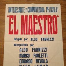 Carteles Espectáculos: CARTEL CINE EL MAESTRO, NO FECHADO, 88 X 64 CM, PLEGADO. Lote 279593843
