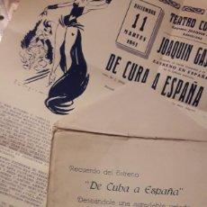 Carteles Espectáculos: TEATRO CÓMICO. BARCELONA. PROGRAMA 11 DICIEMBRE 1951. Lote 286697748