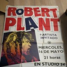 Carteles Espectáculos: CARTEL PUBLICITARIO 90 X 1,30 CONCIERTO ROBERT PLAN 16 MAYO 1990 EN STUDIO 54. Lote 286907988