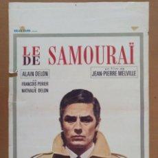 Carteles Espectáculos: CARTEL CINE SAMURAI (LE DE SAMOURAÏ) ALAIN DELON IMPRESO EN BRUSELAS. Lote 289546493