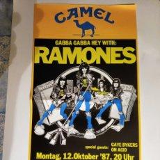 Carteles Espectáculos: CARTEL CONCIERTO DE - RAMONES - 1987 EN ZÜRICH. TAMAÑO 61 X 32 CM. Lote 296066638