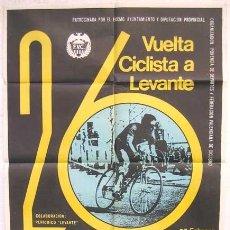 Coleccionismo deportivo: CARTEL CICLISMO , VUELTA CICLISTA A LEVANTE 1967. Lote 23573345