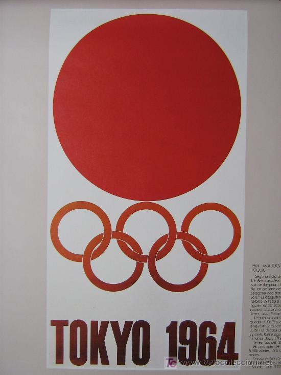 JUEGOS OLÍMPICOS 1956 -1964 ( COLECCIÓN 6 CARTELES). (Coleccionismo Deportivo - Carteles otros Deportes)