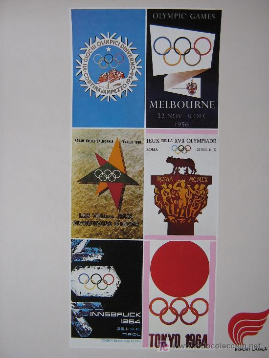 Coleccionismo deportivo: JUEGOS OLÍMPICOS 1956 -1964 ( COLECCIÓN 6 CARTELES). - Foto 2 - 27254130