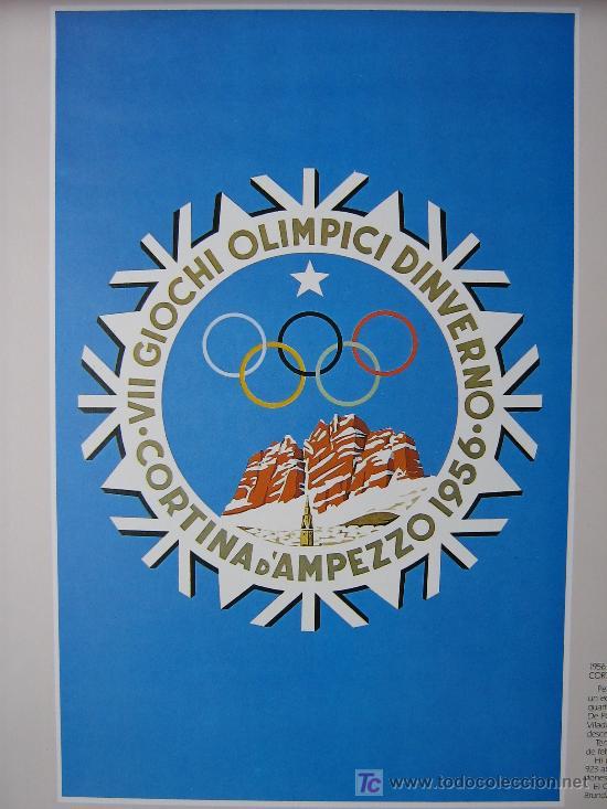 Coleccionismo deportivo: JUEGOS OLÍMPICOS 1956 -1964 ( COLECCIÓN 6 CARTELES). - Foto 3 - 27254130