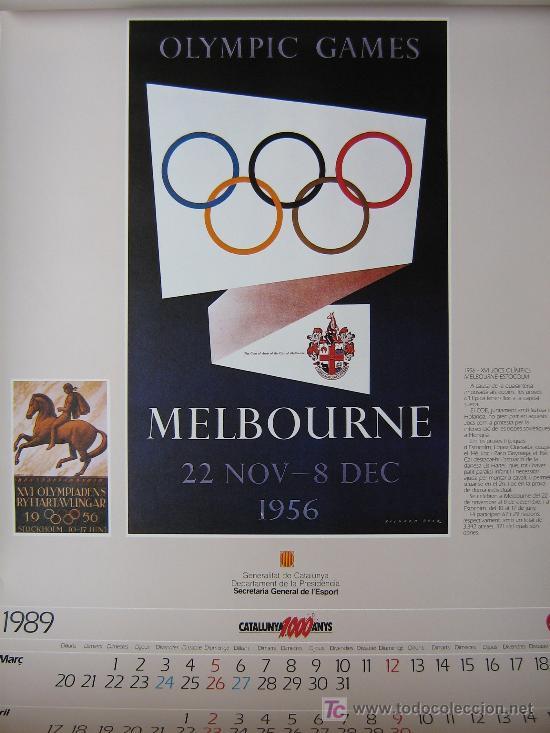 Coleccionismo deportivo: JUEGOS OLÍMPICOS 1956 -1964 ( COLECCIÓN 6 CARTELES). - Foto 4 - 27254130
