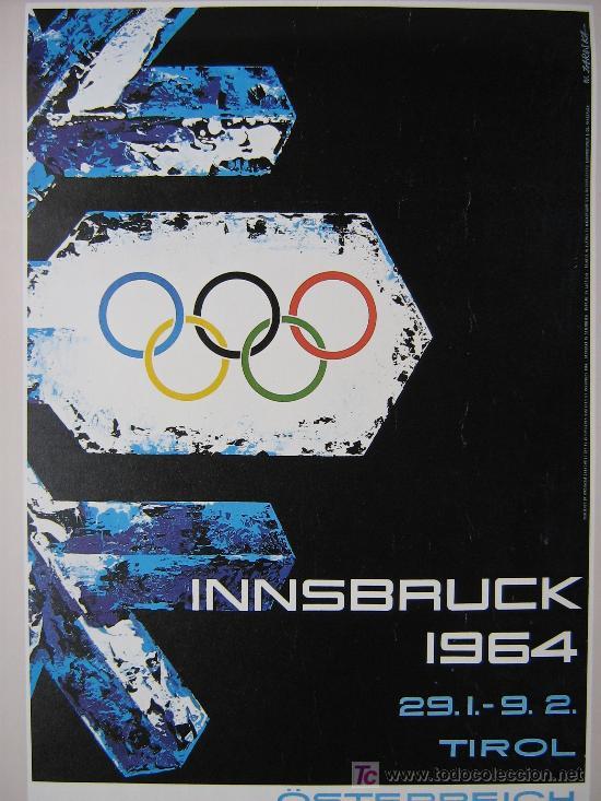Coleccionismo deportivo: JUEGOS OLÍMPICOS 1956 -1964 ( COLECCIÓN 6 CARTELES). - Foto 7 - 27254130