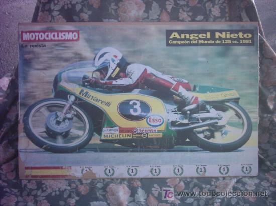 POSTER MOTOCICLISMO ANGEL NIETO (Coleccionismo Deportivo - Carteles otros Deportes)
