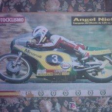 Coleccionismo deportivo: POSTER MOTOCICLISMO ANGEL NIETO. Lote 27548650