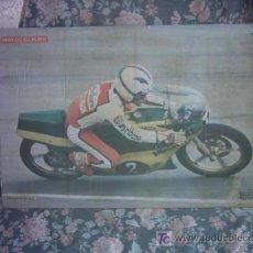 Coleccionismo deportivo: MOTOCICLISMO POSTER ANGEL NIETO CAMPEON DEL MUNDO 125 CC. Lote 26877953