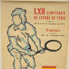 Collezionismo sportivo: CARTEL TENIS LXII CAMPEONATO DE ESPAÑA 1975 1º Y 2ª CATEGORIA. Lote 20453835