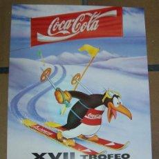 Coleccionismo deportivo: CARTEL PUBLICIDAD DE COCA-COLA XVII TROFEO FERNANDEZ OCHOA. Lote 20934604