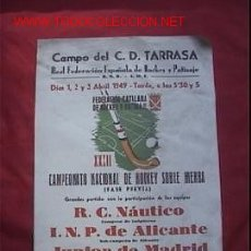 Coleccionismo deportivo: CARTEL POSTER HOCKEY HIERBA 1949. Lote 14103836