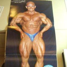 Coleccionismo deportivo: POSTER DEL CULTURISTA JUAN GIL. REVISTA MUSCLEMAG EDICIÓN ESPAÑOLA. MEDIDAS 27,5X55CMS. Lote 9987352