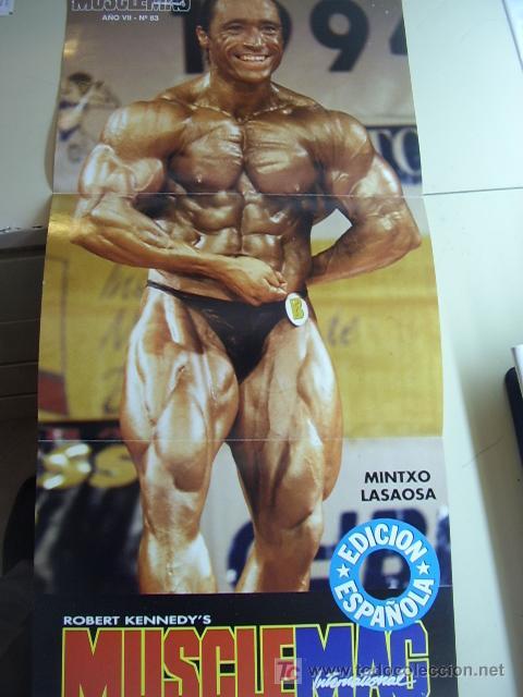 POSTER DEL CULTURISTA MINTXO LASAOSA. REVISTA MUSCLEMAG EDICIÓN ESPAÑOLA. MEDIDAS 27,5X55CMS (Coleccionismo Deportivo - Carteles otros Deportes)