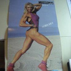 Coleccionismo deportivo: POSTER DE LA CULTURISTA FEMENINA NURIA SALA. REVISTA MUSCLEMAG EDICIÓN ESPAÑOLA. MEDIDAS 27,5X55CMS. Lote 9987427