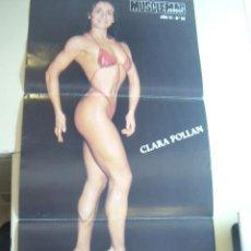 Coleccionismo deportivo: POSTER DE LA CULTURISTA FEMENINA CLARA POLLAN. REVISTA MUSCLEMAG EDICIÓN ESPAÑOLA. MEDIDAS 27,5X55CM. Lote 9987835